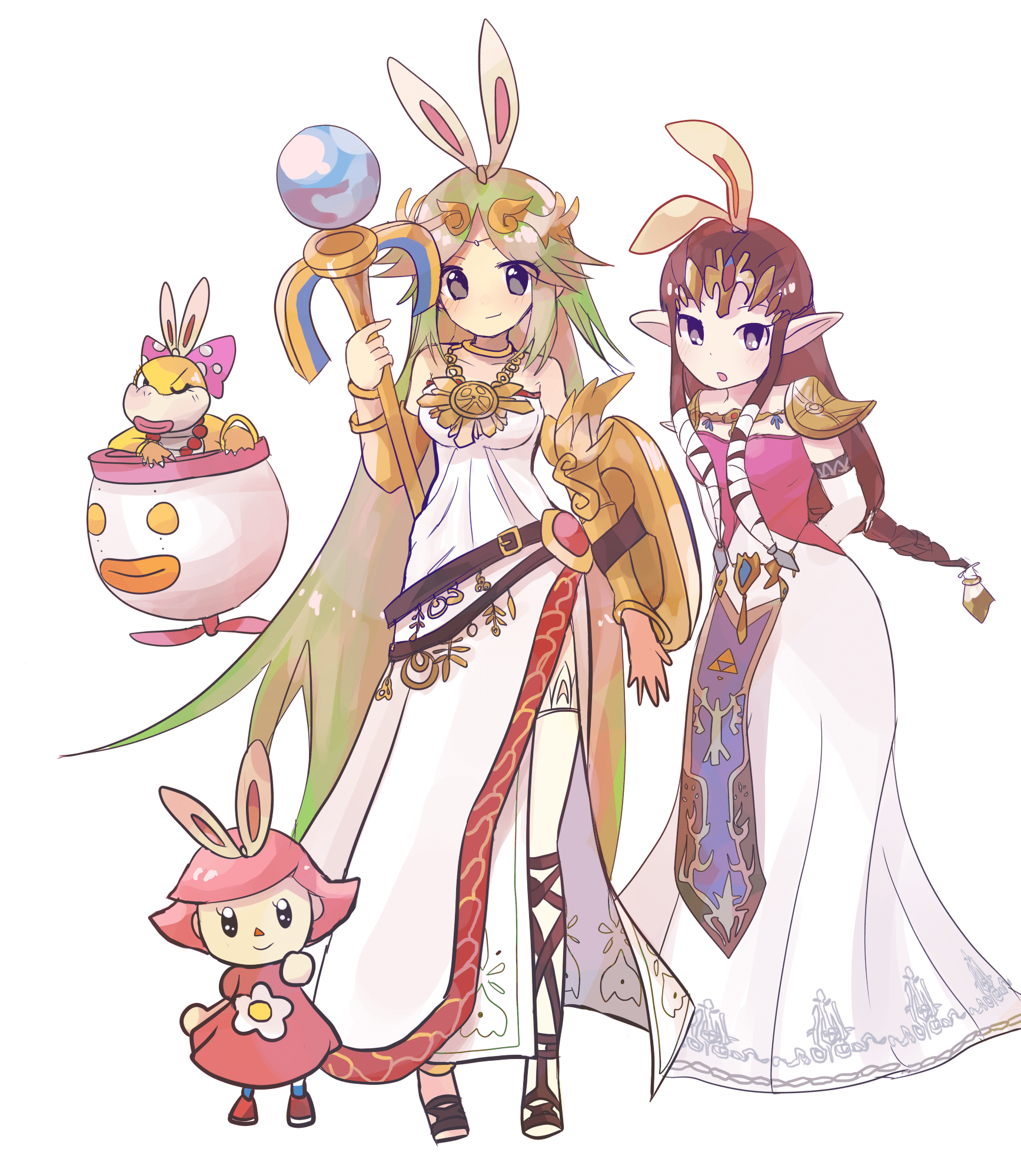 Smash Bros artwork  by  Obikichi .