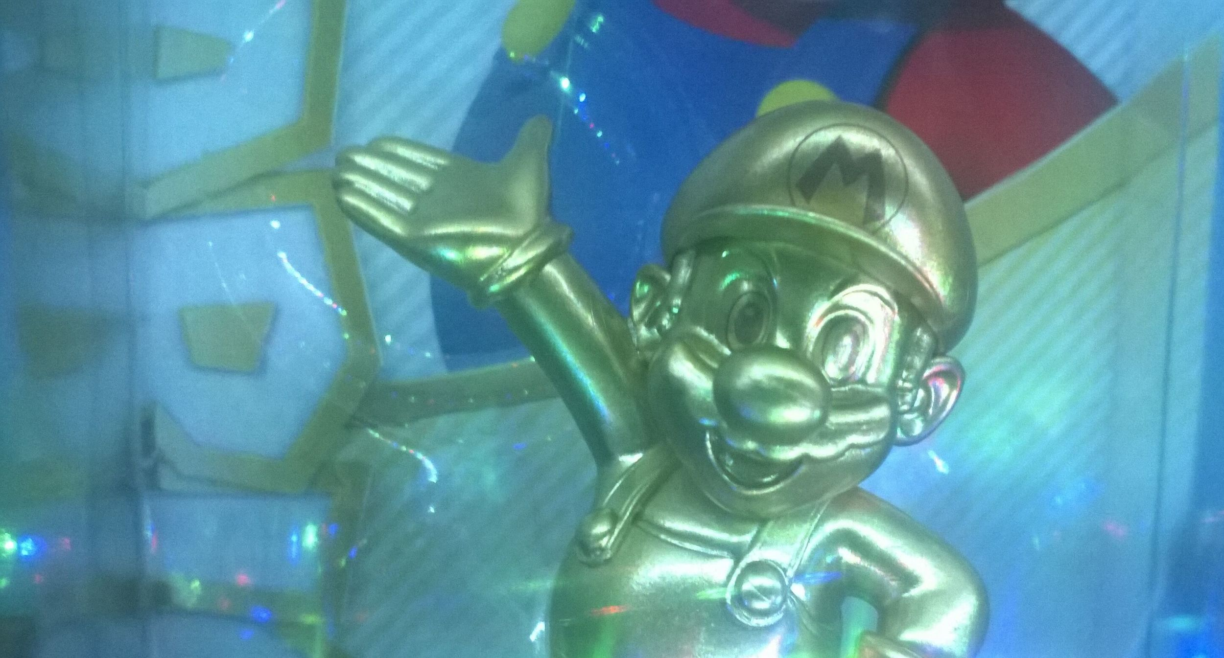Gold Mario in box. Taken 6.2.15