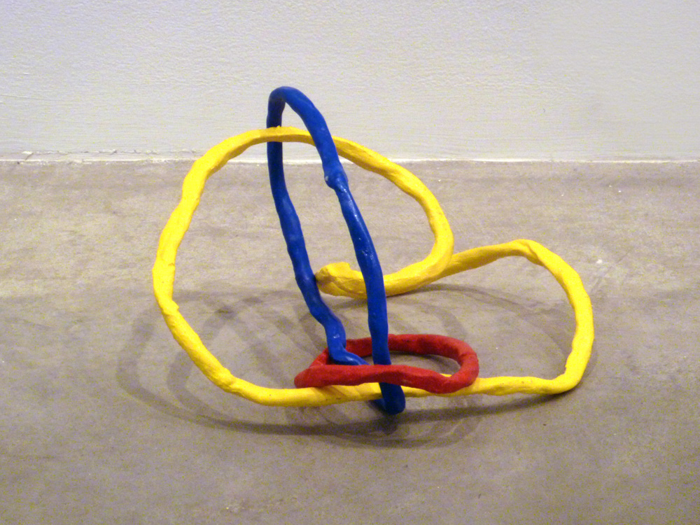 Borromean Ring Variation #5 , 2011, Clay with acrylic, 12 x 12 x 12 in.