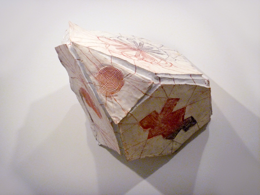 Tetrahedron (Truncated) , 2011, Clay with glaze, 22 x 25 x 21 in.