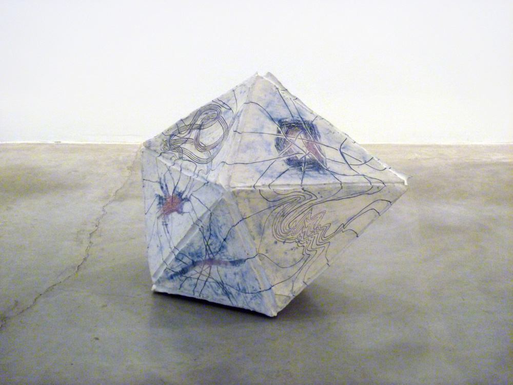 Prism (Triaugmented Triangular) , 2011, Clay and glaze, 27 x 32 x 24 in.