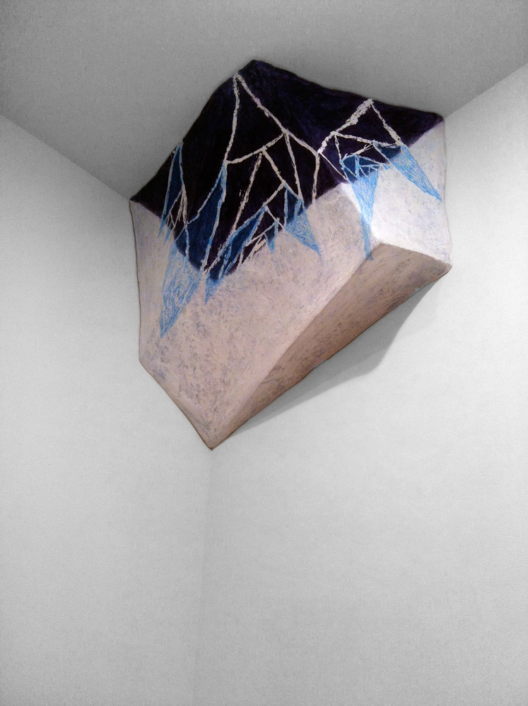 DETAIL:  Heptahedron Set (Transparency, Up and Down) , 2011, Papermâché, acrylic and graphite, 134 x 46 x 23 in.