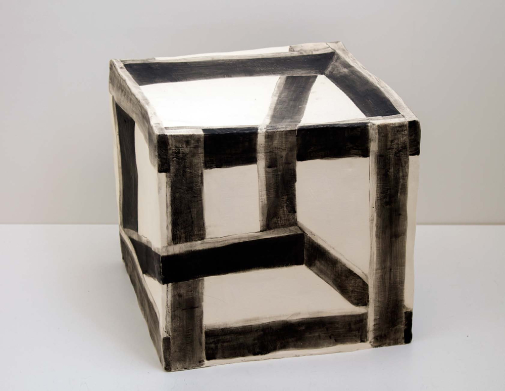 Wooden Crate Illusion, 2015, Glazed Ceramic, 12 x 12 x 12 in.