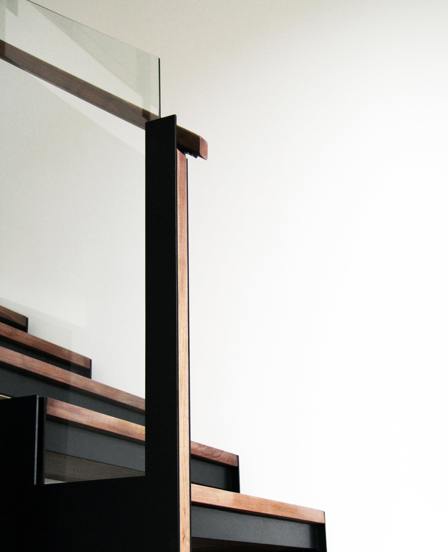 Custom Stairs, Metal and Walnut