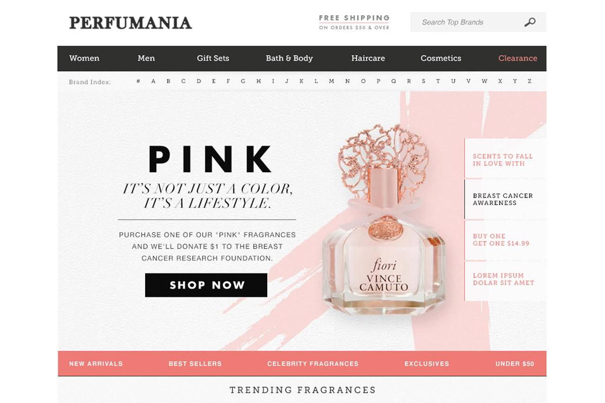 Perfumania.com Rebrand