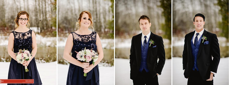 St. Albert Winter Wedding Photography