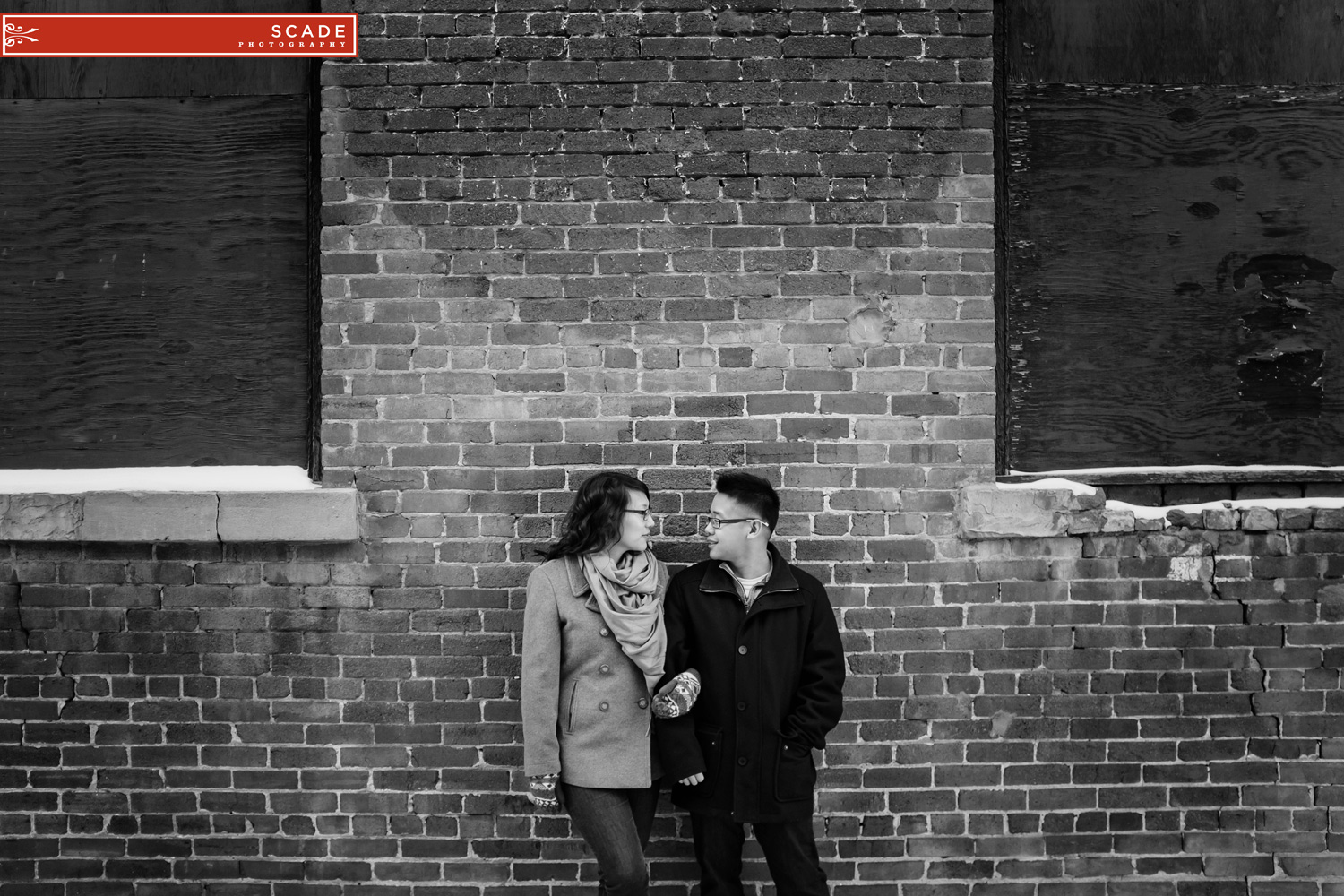 Whyte Ave Winter Engagement