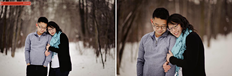 Cozy Winter Engagement Photography edmonton
