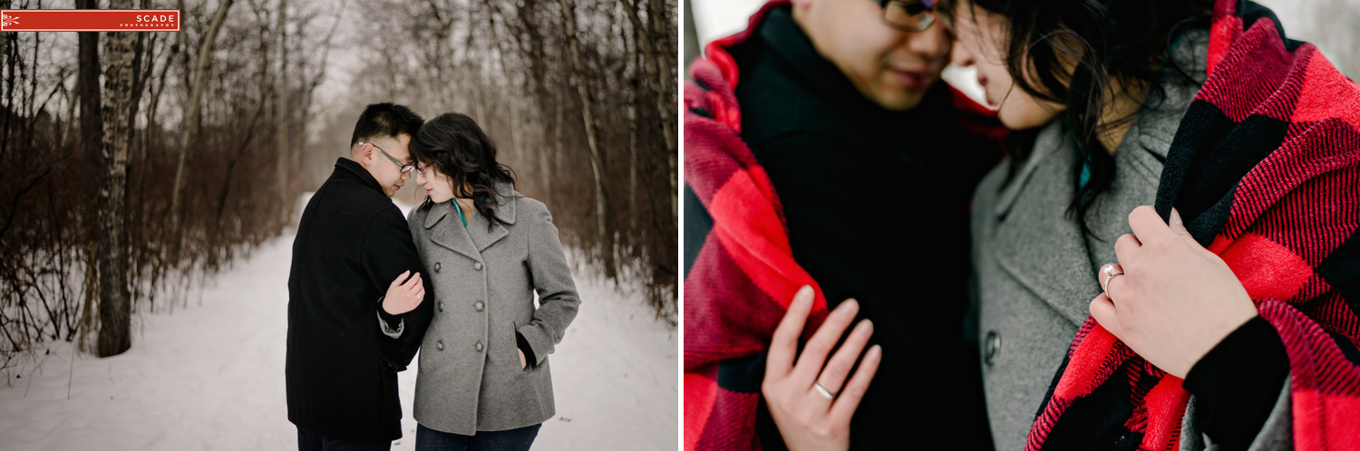Christmas Light Engagement Photography