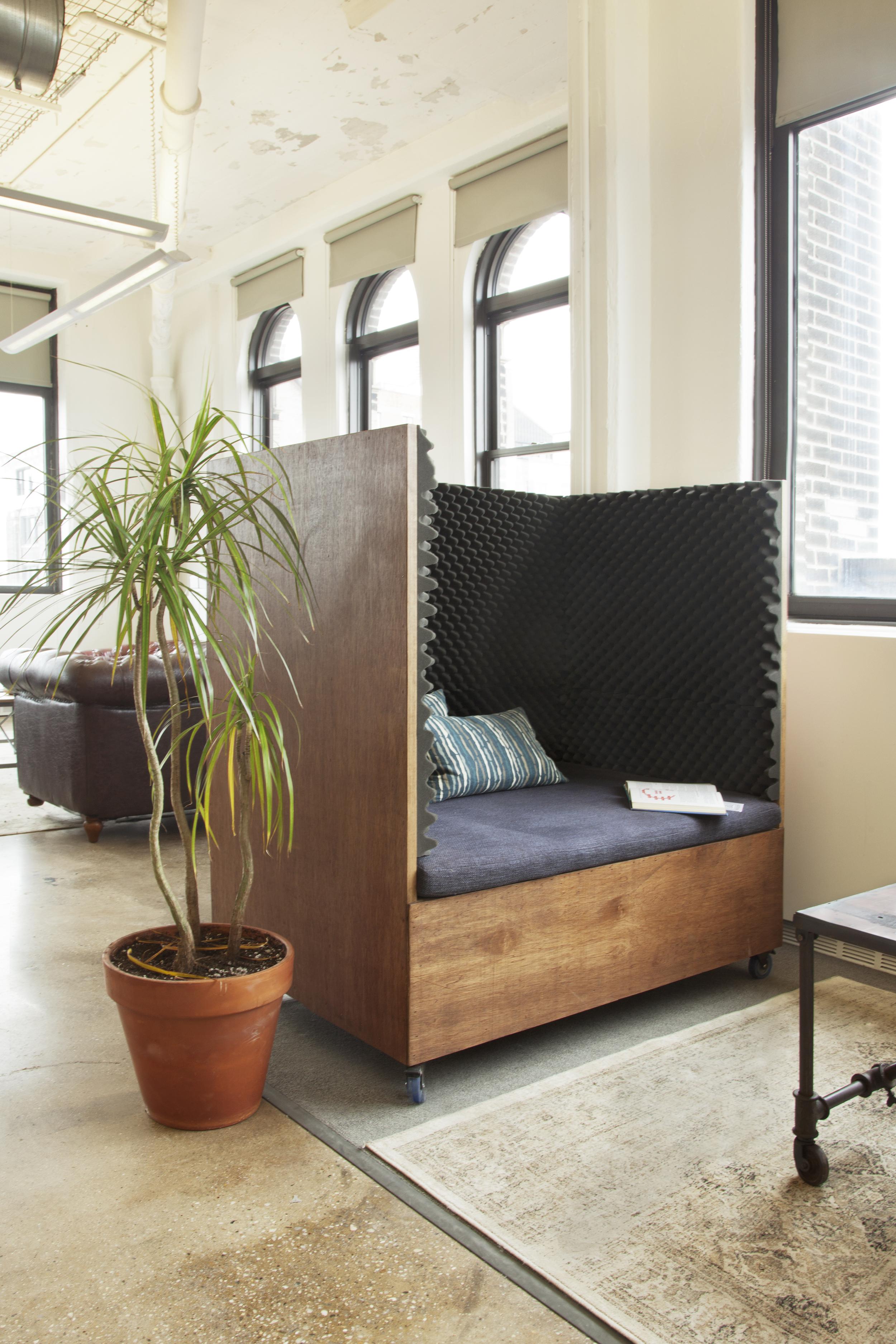 Dani Lounge in Sailthru's office.