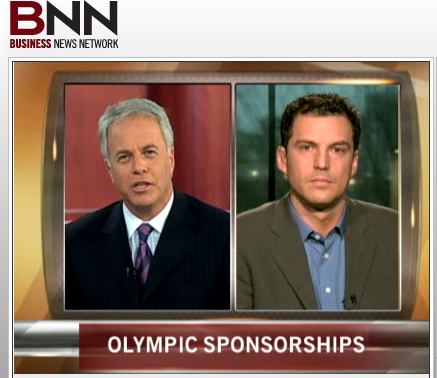 Richard on BNN talking about Olympics and Sponsorship. Unfortunately, the link is no linger active.