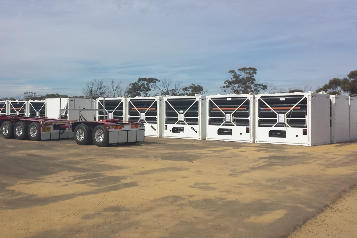 Gas transport modules ready for assembly on to SUB161 °  trailers at the trailer manufacturing facility in Western Australia