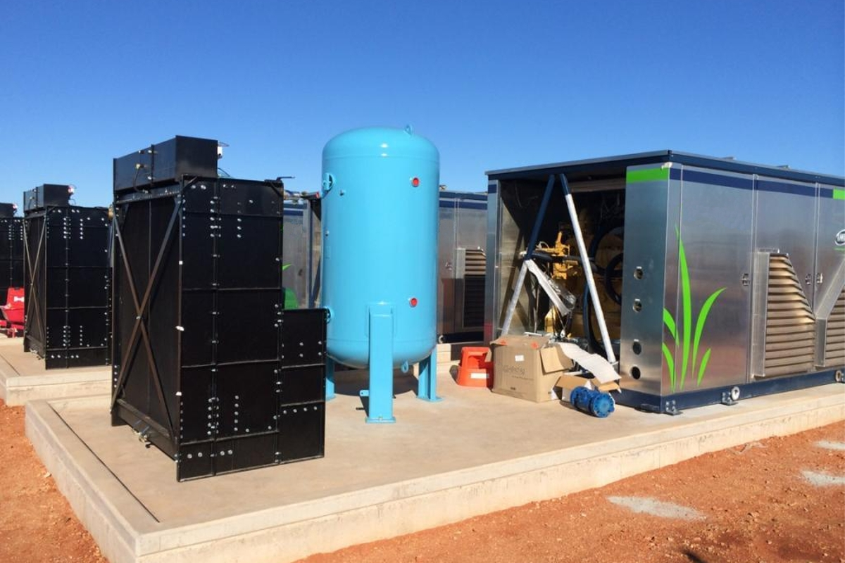 Port Hedland mother station site – gas compression skids