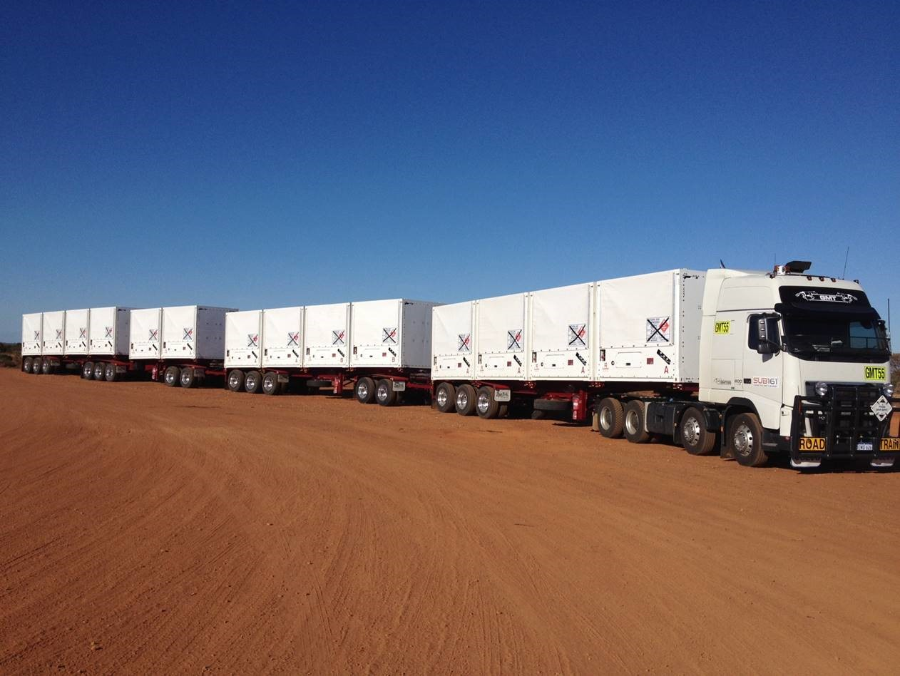 Quad road train - carries up to 1.45TJ of CNG