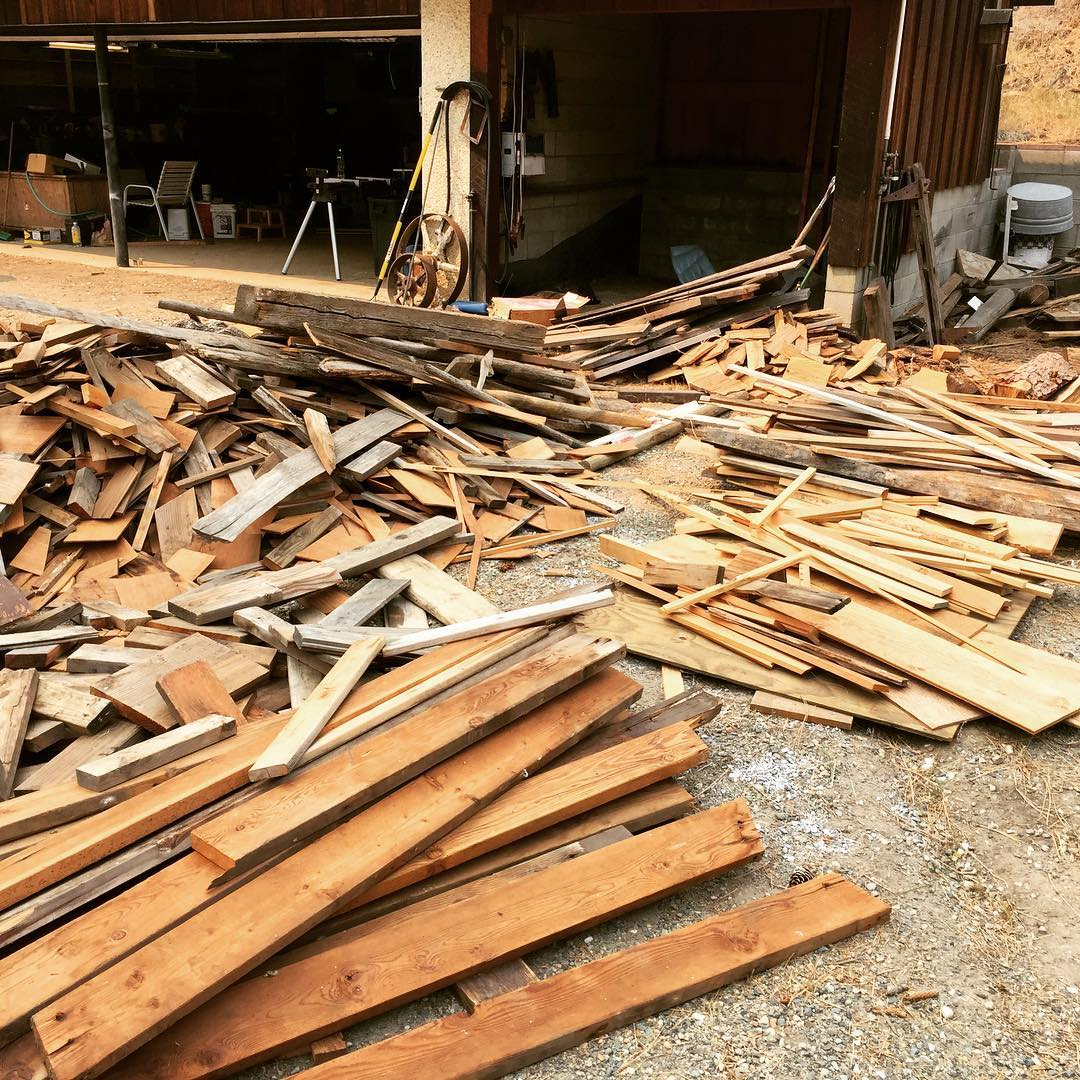 It's crazy to cut down bird habitat to build nestboxes. That's why 100% of the wood used to create Nice Nests is scrap salvaged from construction sites, tear-downs, remodel projects, or burn piles.