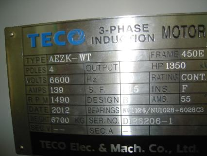 Electric Motor Name Plate
