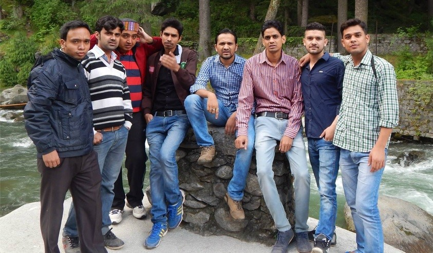 The team on a trip to Manali in Northern India
