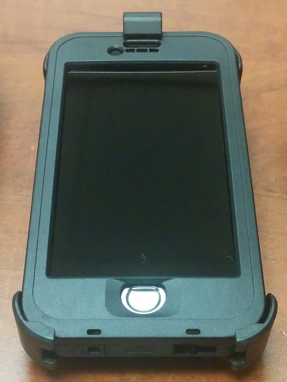 iPhone 6 with intrinsically safe case that was used for the collection project where explosion proof certification was required.