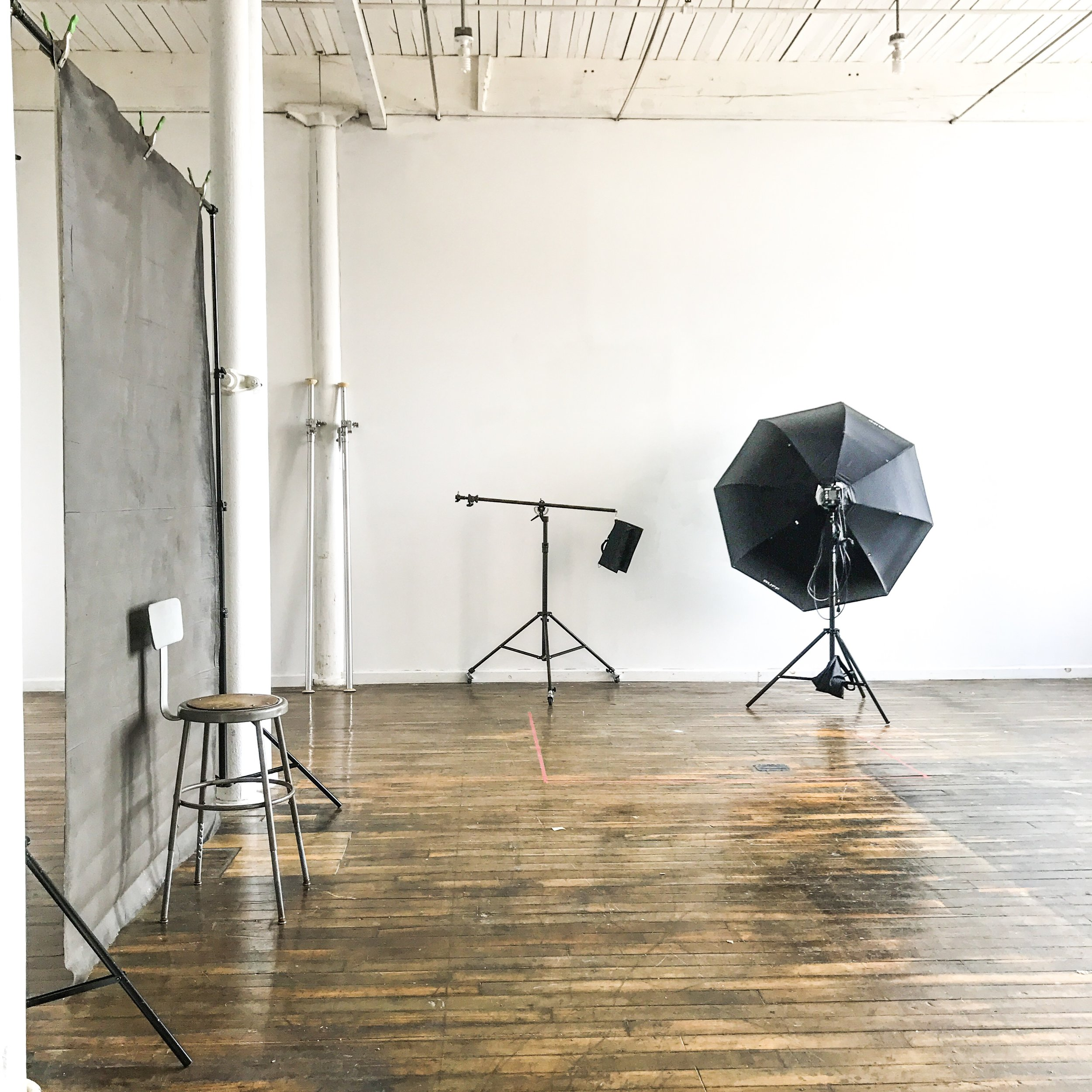 studio - 1000 sqft, natural light, minimal design, highly functional.