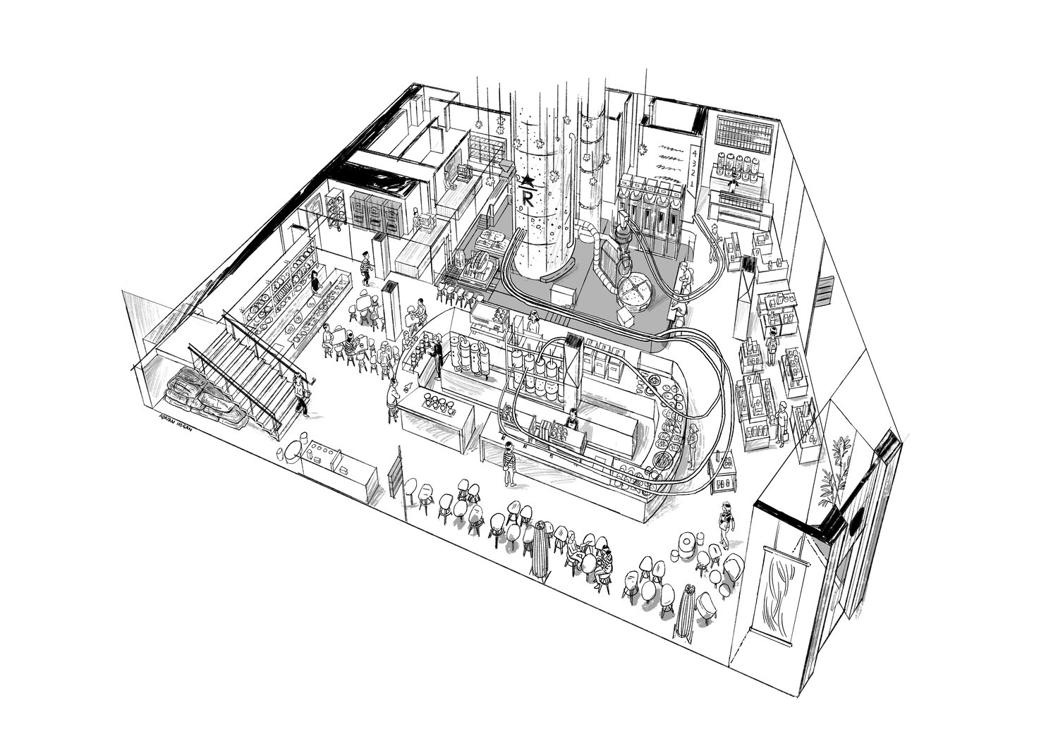 Starbucks Reserve Roastery Floor Plan