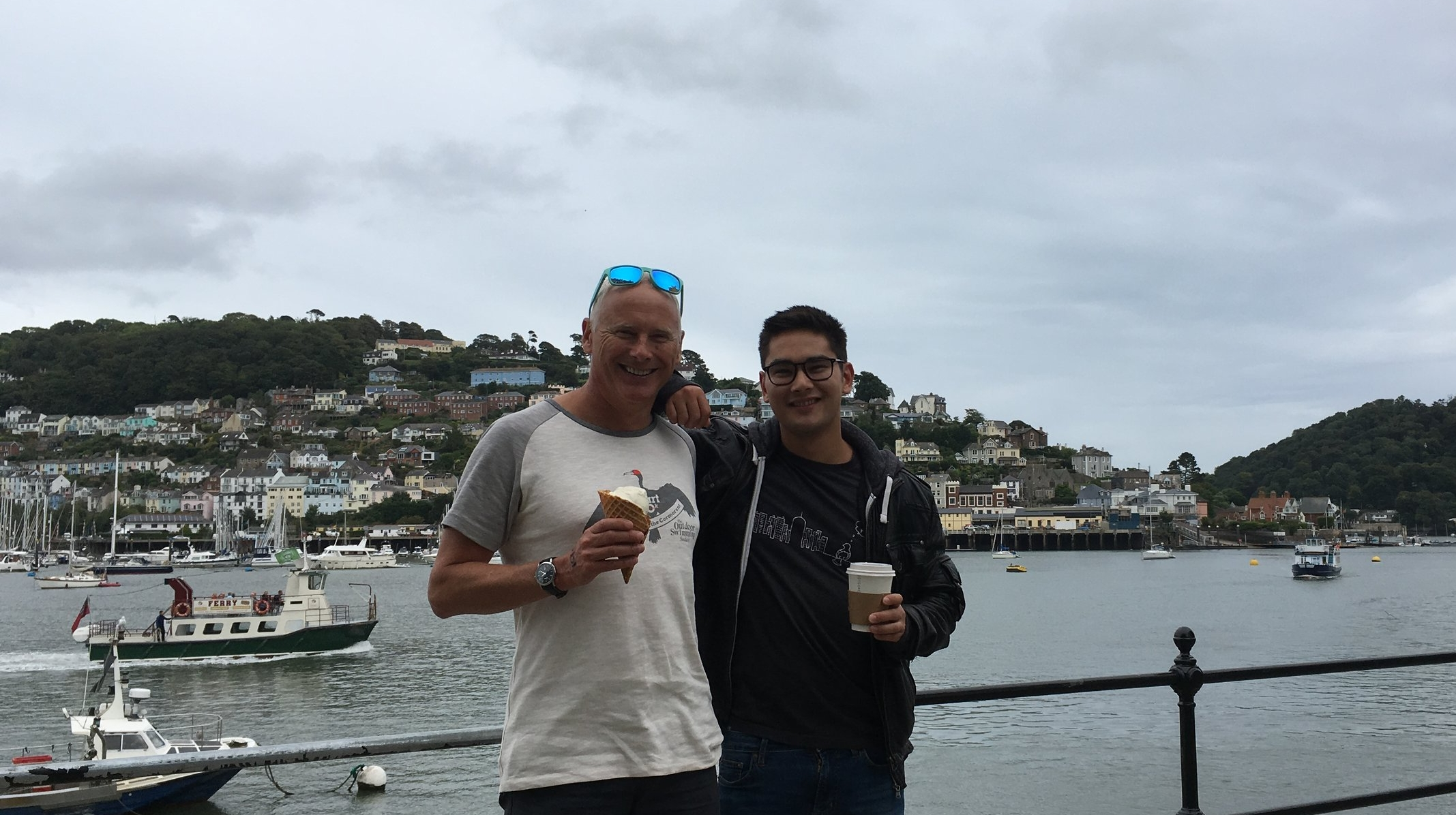 Post Dart 10k nutrition with my son - the big question is: will I top the experience and go for pistachio and hazelnut flavour next time?