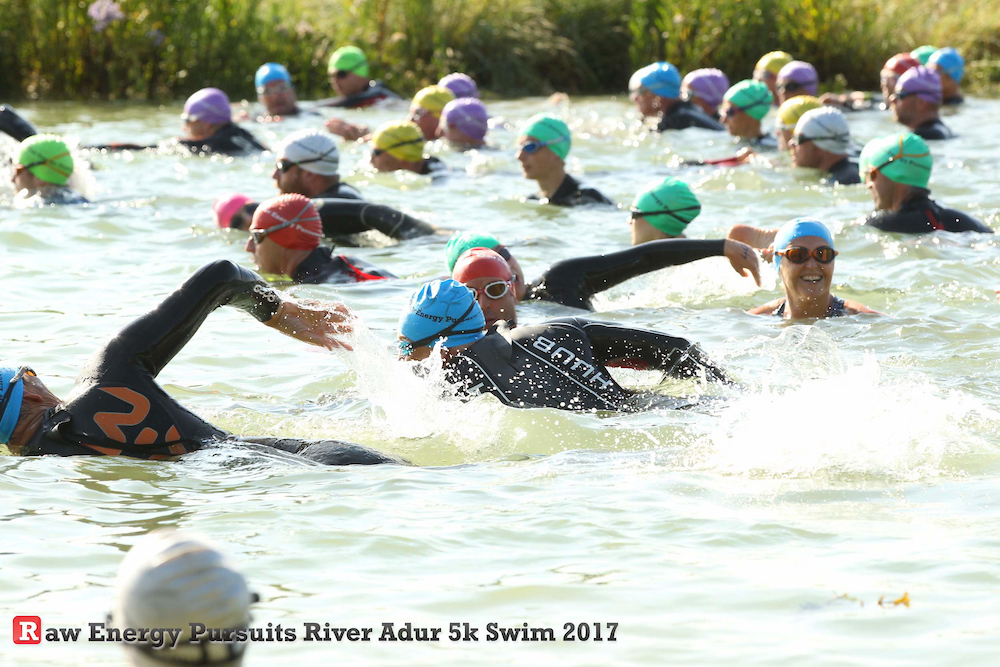 Someone's not phased! At the Raw Energy Pursuits River Adur 5km swim