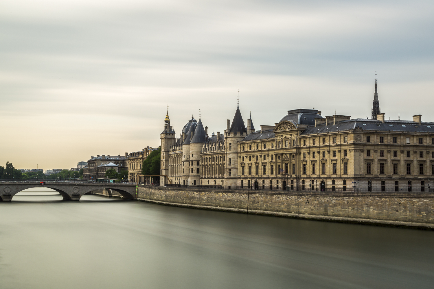 Palace of Justice and the Seine. An alternative perspective.