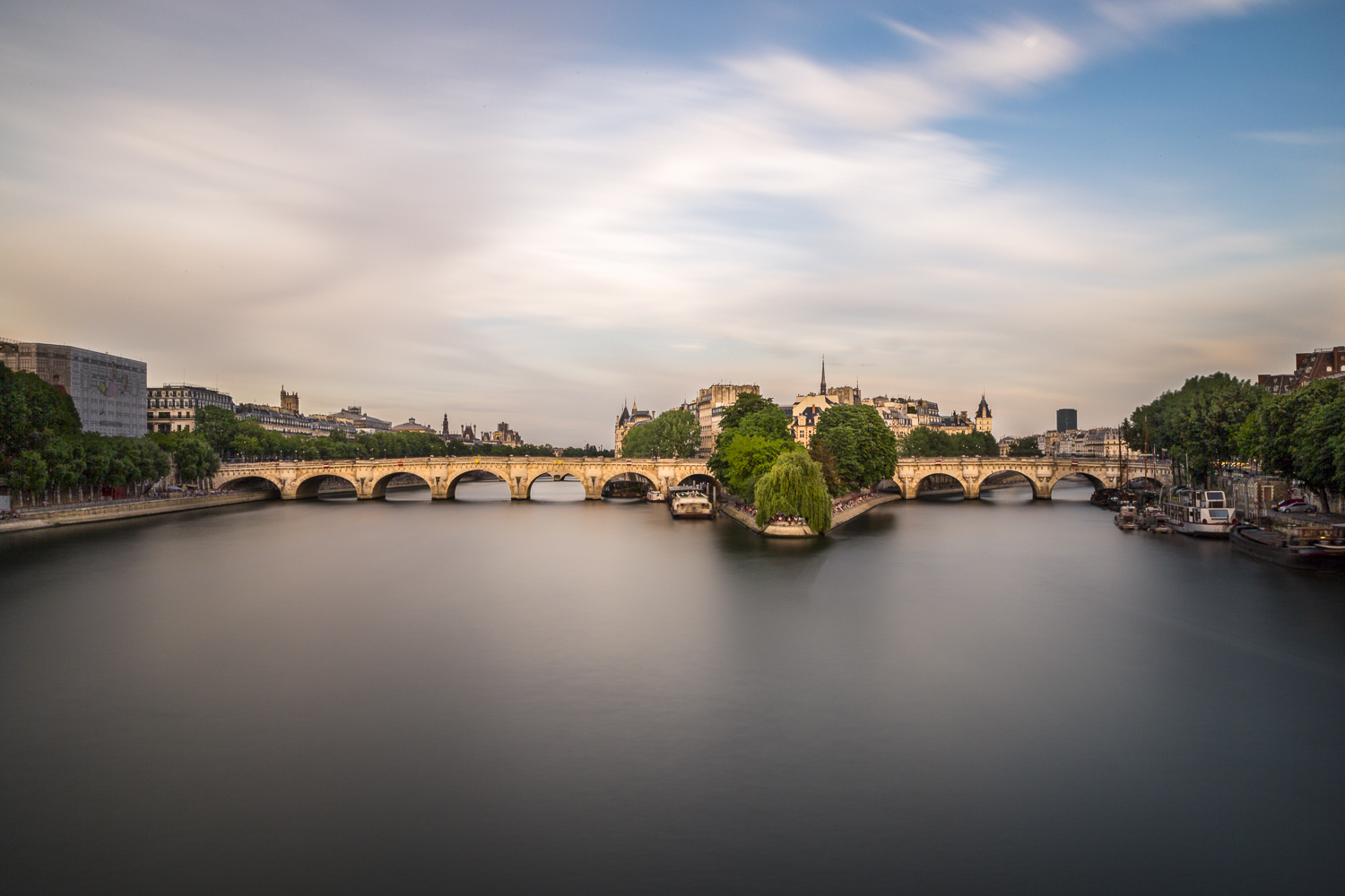 My favorite image from my trip. The Seine River, Ponte Neuf and the Isle De La Citie from Ponte Des Artes Bridge