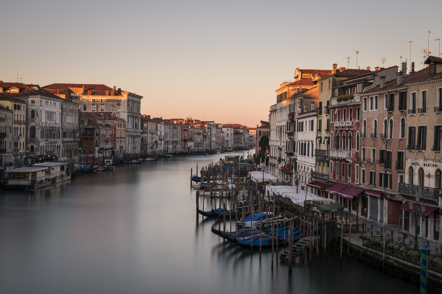 The Grand Canal from the Rialto Bridge. Venice.
