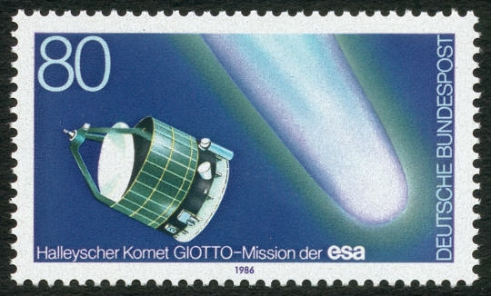 A 1986 German Stamp celebrating GIOTTO's Halley's Comet flyby