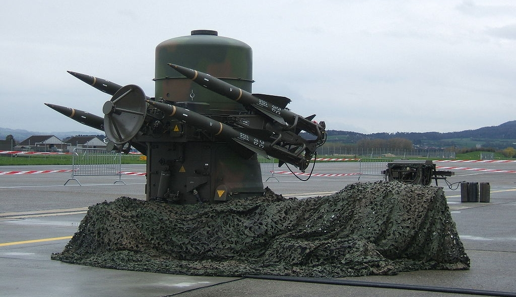 Rapier surface-to-air anti-aircraft missile system launcher.