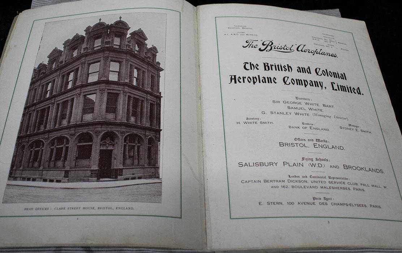 British & Colonial Aeroplane Company brochure c. 1911
