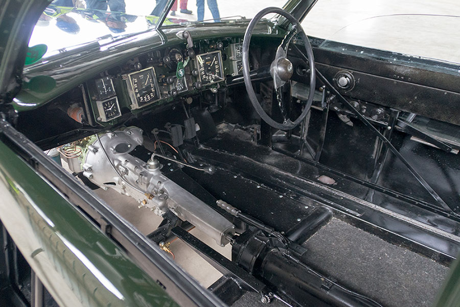 Inside the Bristol 403 which has been restored for our collection.