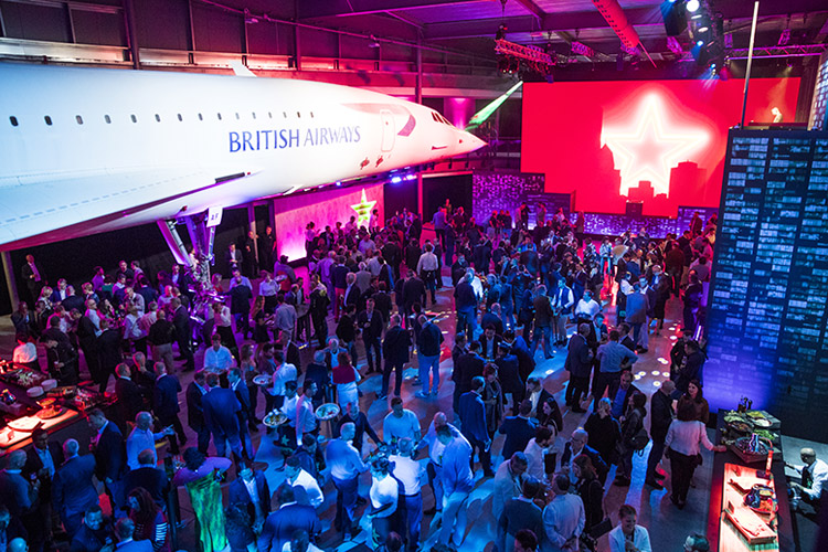 First Class event spaces at Aerospace Bristol