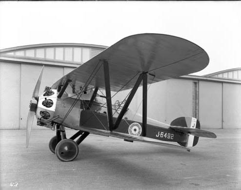 Bristol Type 23 Badger, 1919, outside Building 16S, on Aerodrome in 1919.Credit: BAE Systems