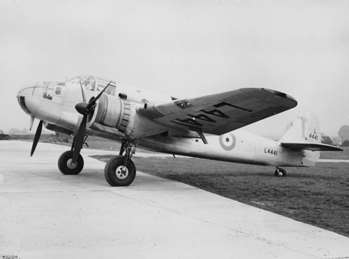 6 April 1941 - A Bristol Beaufort of No. 22 Sqn St Eval bombed the German battleship Gneisenau in Brest harbour scoring a direct hit and nearly sinking the ship. The torpedo was released from a height of 30 ft after which Fg Off Kenneth Campbell was shot down and killed. He was posthumously awarded the Victoria Cross.Credit: BAE Systems