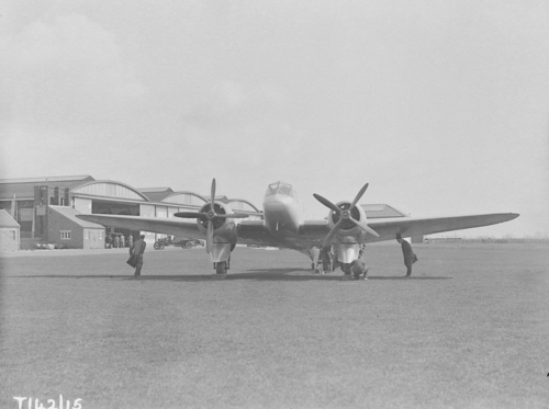 12 April 1935 - The Bristol Type 142, a twin-engined low-wing monoplane designed by Frank Barnwell for Lord Rothermere, owner of the Daily Mail newspaper, had been given the name Britain First, and conducted its maiden flight from Filton. Flight tests soon proved that the aircraft was in fact 50 mph faster than any fighter in service with the RAF at the time, having demonstrated a top speed of 307 mph. Rothermere presented the aircraft to the nation for a formal evaluation as a potential bomber. The design was subsequently adopted as the basis of the RAF's Bristol Blenheim medium bomber.Credit: BAE Systems