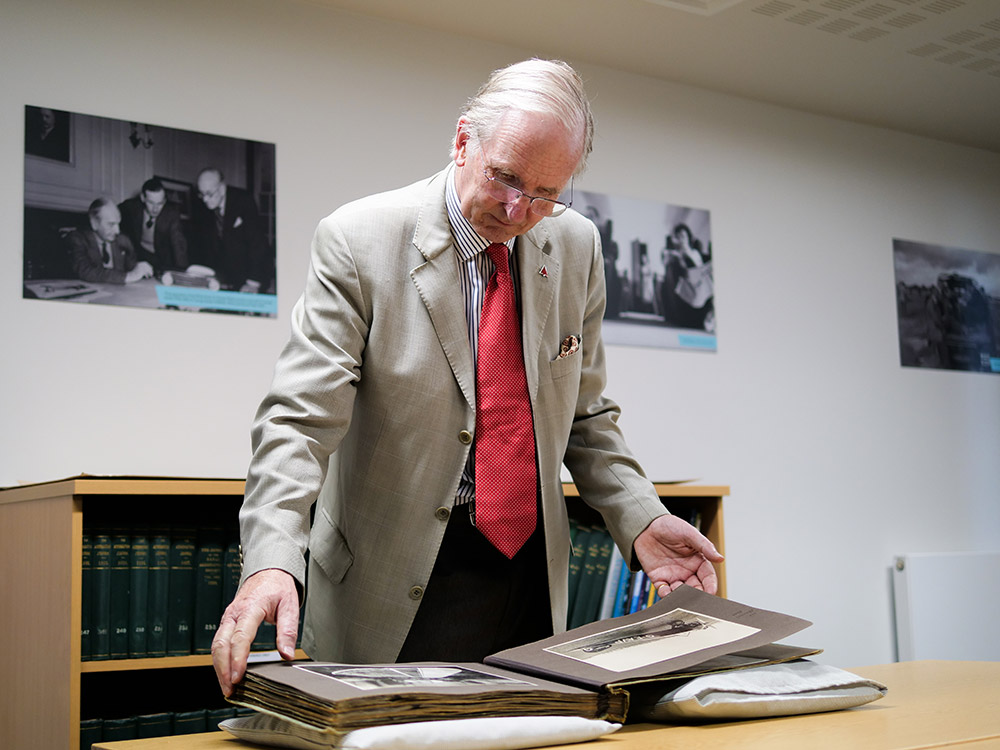 Sir George White in the Reading Room