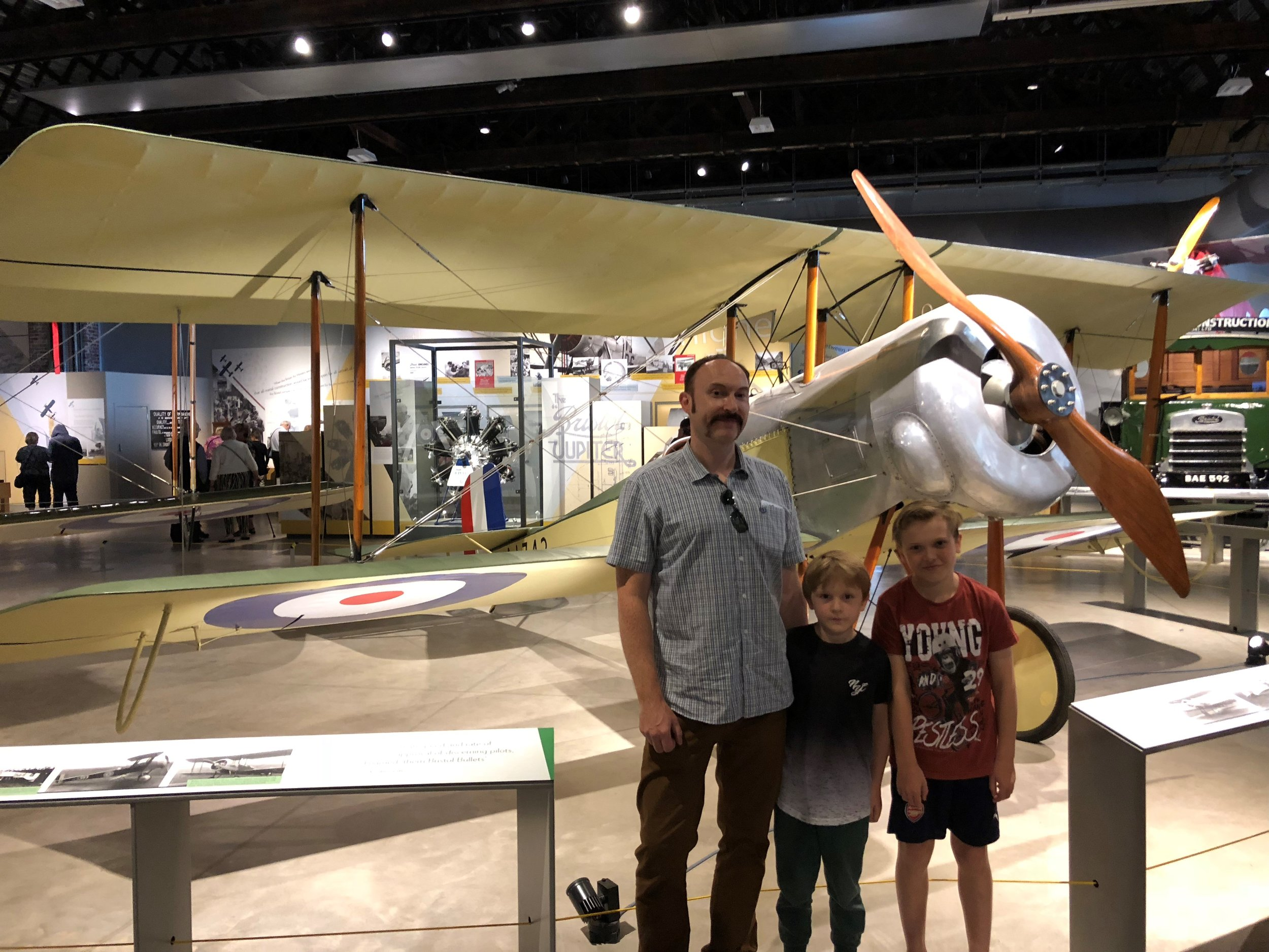 The Gascoigne family celebrate being Aerospace Bristol 150,000th visitors