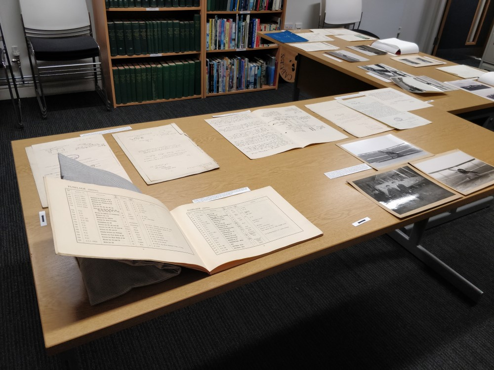 The display included a mix of documents from letters about leaky engines to photographs of the Bristol Fighter that was interned in Holland and given Dutch paintwork during the First World War
