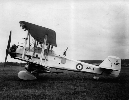 8 December 1933 - An order was placed, against Air Ministry specification 21/33, for 51 general-purpose Vickers Vincent aircraft, a very large two-to three-seat single-engined biplane used as a light bomber, torpedo bomber and in army cooperation roles. It was powered by a 660 hp (490 kW) Bristol Pegasus IIM3 engine and deliveries were made to No. 8 Squadron at Aden in late 1934. It was flown by 11 RAF Squadrons.Credit: BAE Systems via Brooklands Museum