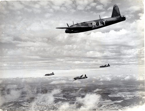 12 January 1939 - The last of 15 Vickers Wellington Type 295 Mk I production versions, (L4247), fitted with Vickers gun turrets, transposed W/T and navigation stations, was delivered to 99 Squadron RAF, on 12 January 1939. The production Wellington Mk I, some Mk IA and Mk IC used Bristol Pegasus XVIII engines. These Mks of Wellington subsequently served with 34 different RAF Squadrons.Credit: BAE Systems via Brooklands Museum