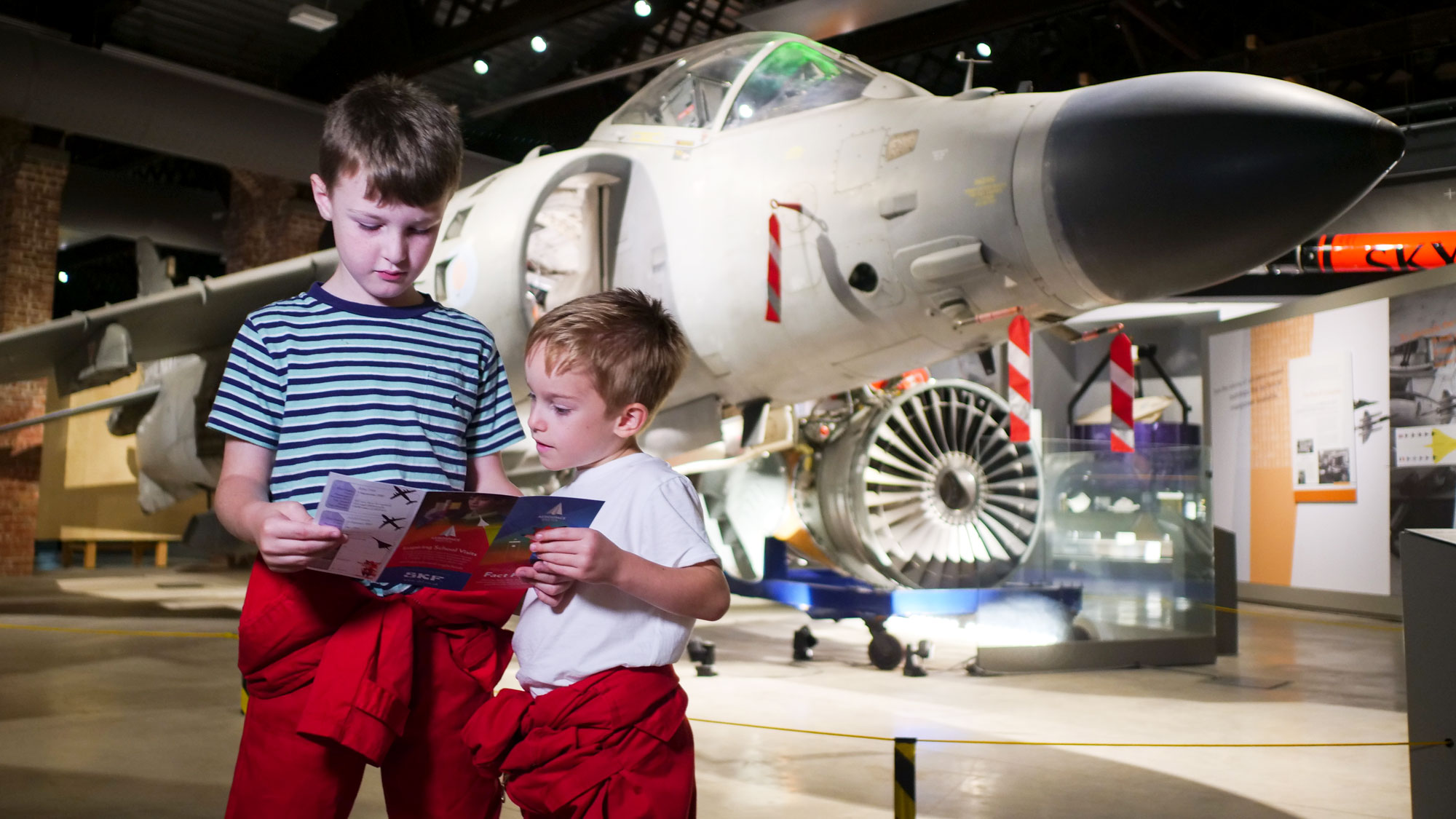 Enjoying Alfie Fox's Fact Finding Trail - Aerospace Bristol offers a fun, hands-on day out for all ages.
