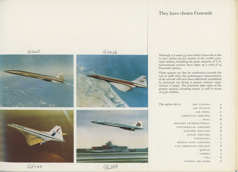 Whereas this booklet shows how different airlines' Concorde liveries might look.  (Image credit: BAE Systems)