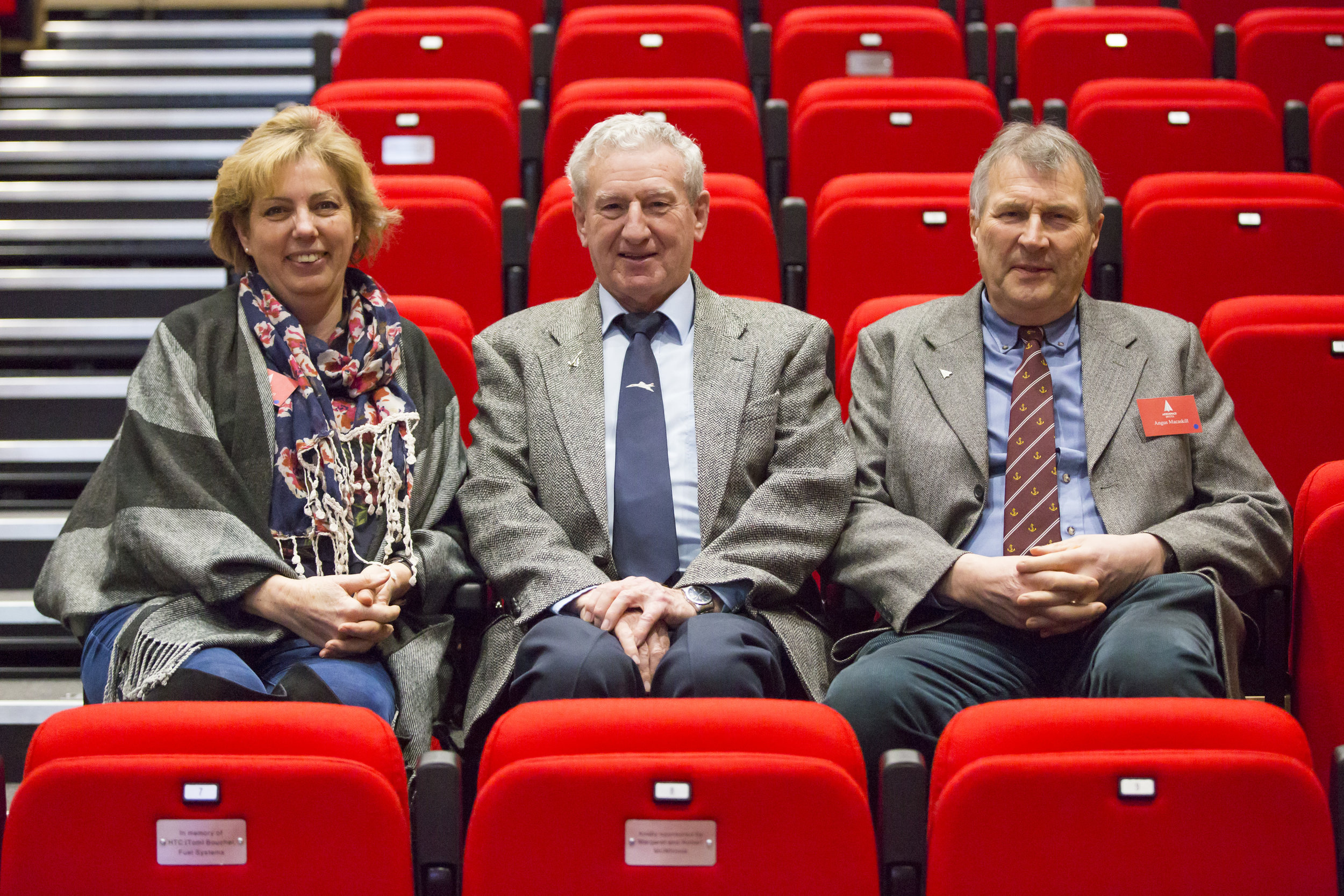 Lecture Theatre Seat Sponsors with Concorde Captain Gwyn Williams at a special supporters' event