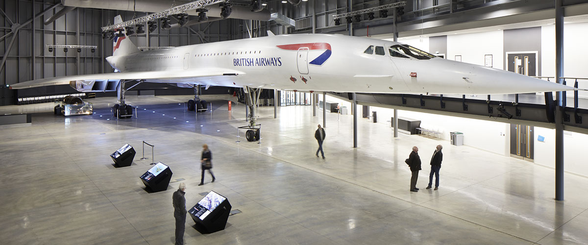 Concorde Alpha Foxtrot in Aerospace Bristol's purpose-built Concorde Hangar.