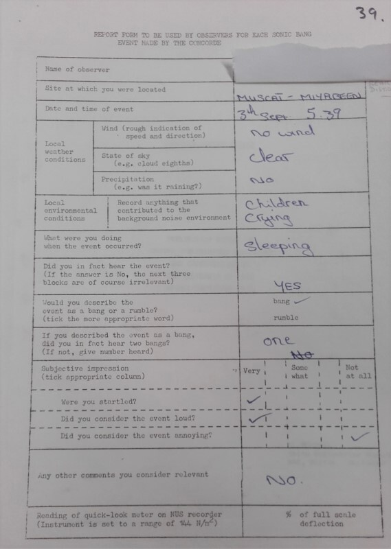 Pictures: Surveys of people living under the test flight paths in Oman, 1974 (survey credit: BAE Systems)