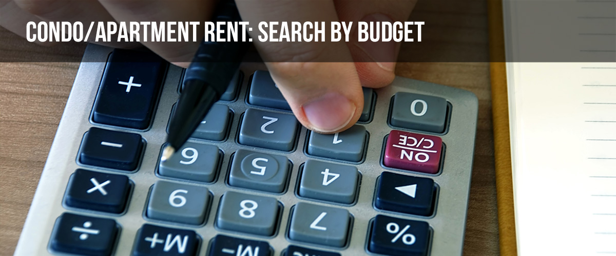 Search Condo By Budget