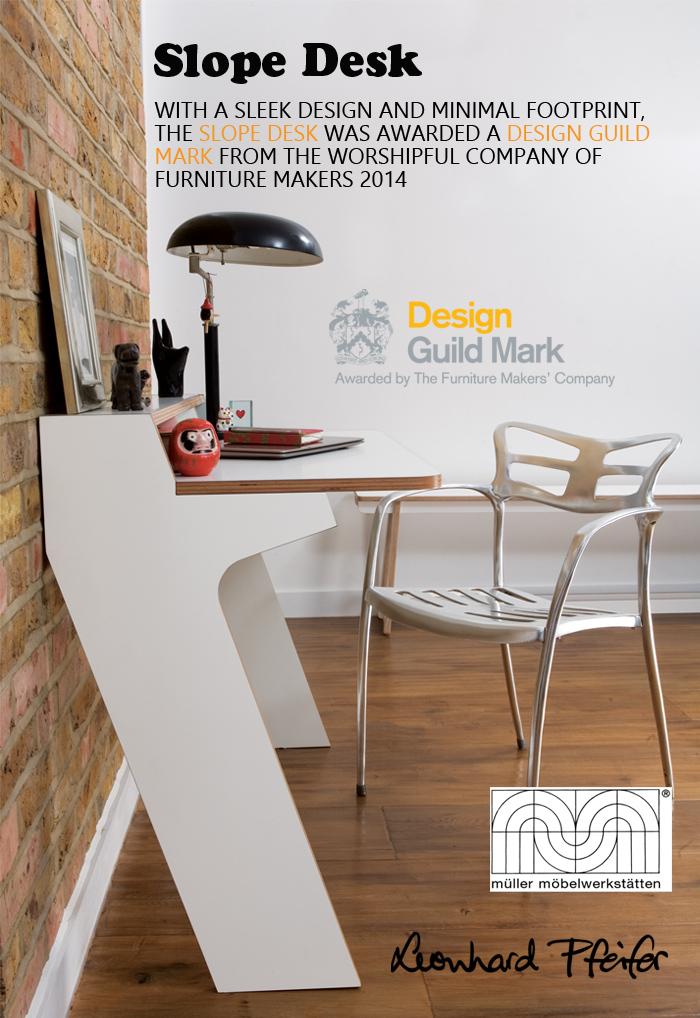 Slope Desk designed by Leonhard Pfeifer for German manufacturer  Mueller Moebel.  Photography by Nick Stevens