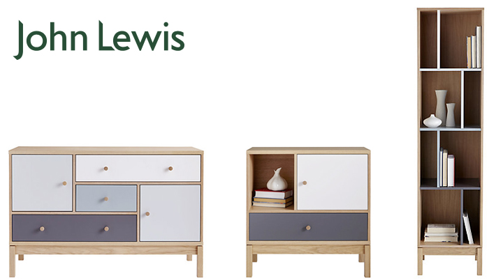 (L-R) Abbey Wood Sideboard, Abbey Wood Low Cabinet and Abbey Wood Narrow Bookcase